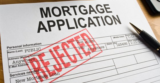mortgage application rejected